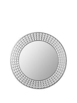 large-diamante-effect-round-mirror