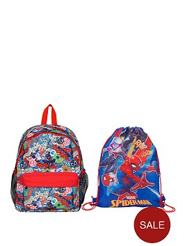 spiderman-backpack-and-gym-bag