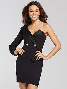 michelle-keegan-one-shoulder-tuxedo-dress-black