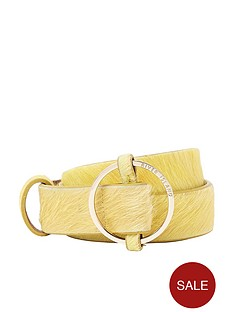 river-island-ring-detail-belt--yellow