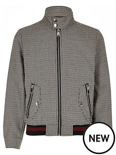 river-island-boys-brown-check-harrington-jacket