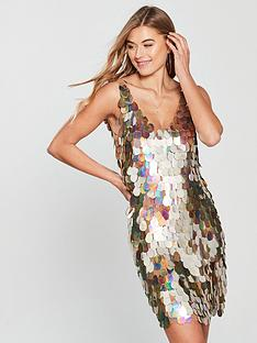 v-by-very-sequin-shift-dress-gold