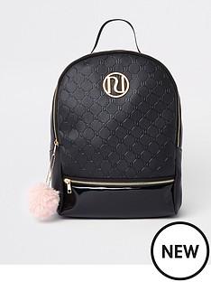 river-island-girls-black-ri-monogram-backpack