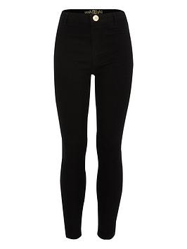 River Island River Island Girls Black Molly Mid Rise Jeggings Picture