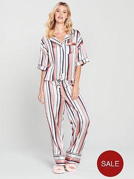 v-by-very-wide-leg-satin-stripe-pyjama-set