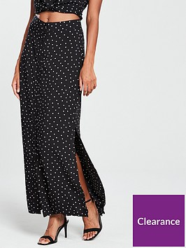 warehouse-spot-print-skirt