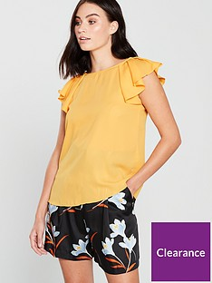 mango-tie-back-blouse-yellow