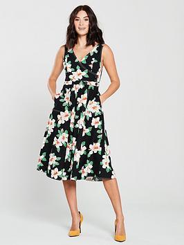 mango-gardenia-floral-midi-dress-black