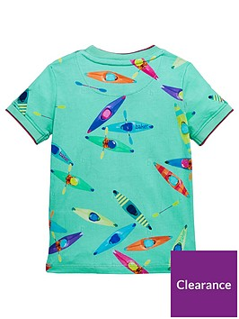 a51b8b74f4cbee Baker by Ted Baker Toddler Boys Canoe Print Short Sleeve T-Shirt - Multi