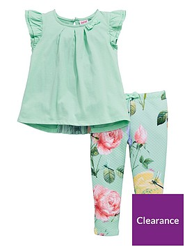 c40bacbc2 Baker by Ted Baker Baby Girls Rose Top   Legging Outfit ...