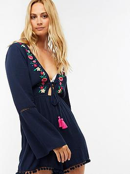 accessorize-long-sleeve-embroidered-playsuitnbsp--navynbsp