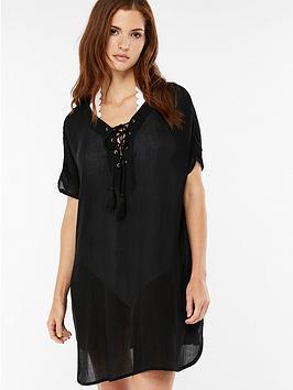 accessorize-lace-up-oversizednbspt-shirt-dress-blacknbsp