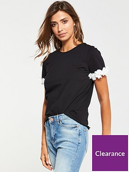 v-by-very-3d-floral-sleeve-t-shirt-black