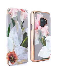 ted-baker-ted-baker-mirror-folio-case-samsung-galaxy-s9-chatsworth-bloom-mid-grey