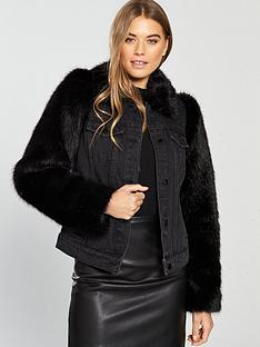 v-by-very-faux-fur-sleeve-denim-jacket-blacknbsp