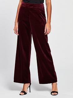 v-by-very-velvet-wide-leg-suit-trouser-burgundy