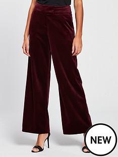 v-by-very-velvet-wide-leg-trouser-burgundy