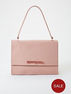 26155cf777 Ted Baker Ted Baker Jessi Pale Pink Concertina Leather Shoulder Bag