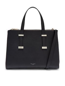ted-baker-alexiis-bow-adjustable-handle-large-tote-bag-blacknbsp
