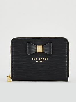 ted-baker-aureole-textured-small-zip-purse-black