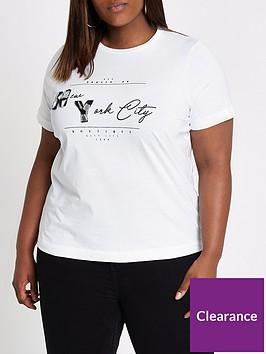 ri-plus-embellished-new-york-printed-t-shirt-white