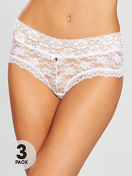 Boux Avenue Boux Avenue Lia Lacey Short 3 Pack - White Picture