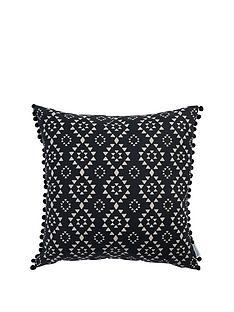 ideal-home-aztec-pom-pom-cushion