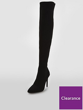 v-by-very-laney-knitted-point-heel-over-the-knee-boot-black