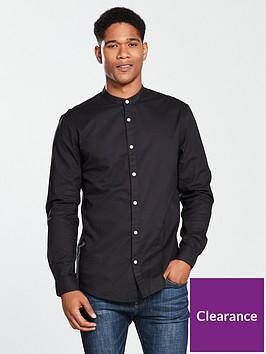 v-by-very-long-sleeved-grandad-shirt-black