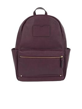 accessorize-dome-backpack-burgundy
