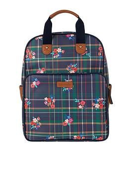 accessorize-preppy-floral-check-backpack-print