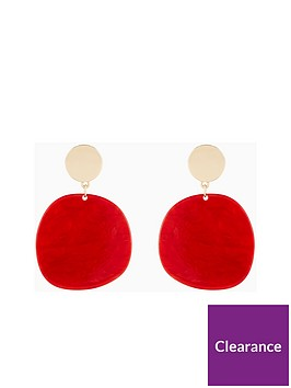 v-by-very-audrina-circle-resin-drop-earrings-red