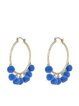 accessorize-mini-pom-hoop-earrings-bluenbsp
