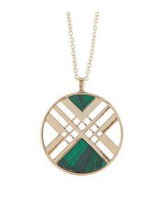 accessorize-aztec-long-pendant-necklace-green