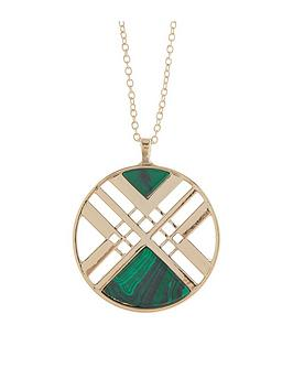 accessorize-aztec-long-pendant-necklace-green