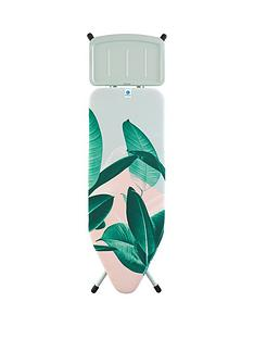 brabantia-wide-ironing-board-with-steam-unit-iron-rest-tropical-leaves-design