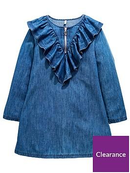v-by-very-girls-ruffle-zip-denim-dress