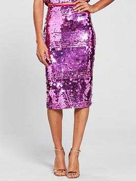 v-by-very-sequin-midi-skirt-pink