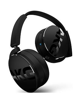 AKG  Akg Y50Bt On-Ear Rechargeable Wireless Bluetooth Headphones Compatible With Ios And Android Smartphone - Black