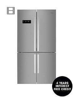 beko-mn1416224px-91cmnbspwide-total-no-frost-4-door-american-fridge-freezer-brushed-steel
