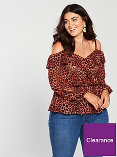 v-by-very-curve-cold-shouldernbspblouse-printednbsp