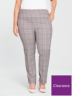 v-by-very-curve-check-tapered-leg-trouser