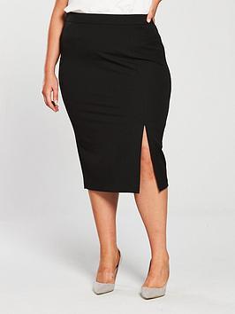 V by Very Curve V By Very Curve Body Sculpt Pencil Skirt - Black Picture