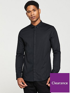 v-by-very-slim-stretch-poplin-shirt