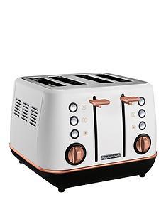 morphy-richards-evoke-4-slice-toaster-white-rose-gold