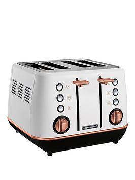 Morphy Richards   Evoke 4 Slice Toaster White Rose Gold