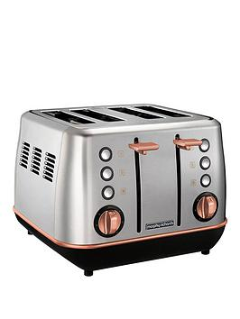 Morphy Richards Morphy Richards Evoke 4 Slice Toaster Brushed Rose Gold Picture