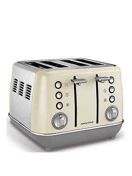 Morphy Richards   Evoke 4 Slice Toaster Cream