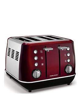 Morphy Richards Morphy Richards Evoke 4-Slice Toaster - Red Picture