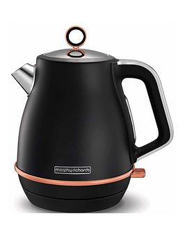 morphy-richards-evoke-jug-kettle-black-rose-gold